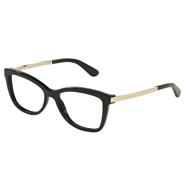 72c69f3fde Dolce   Gabbana 3218 – Μαύρος Σκελετός Χρυσοί Βραχίονες - Οπτικά Γαλάνης