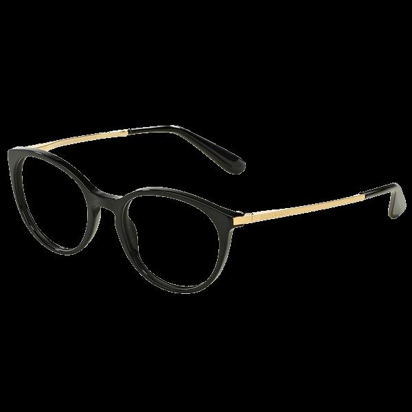 950c179c5b Dolce   Gabbana 3242 – Μαύρος Σκελετός Χρυσοί Βραχίονες - Οπτικά Γαλάνης